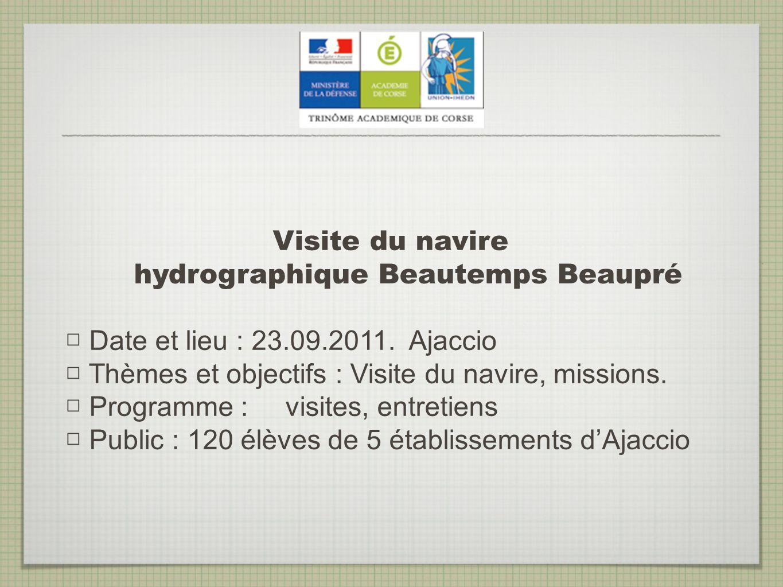 Visite du navire hydrographique Beautemps Beaupré