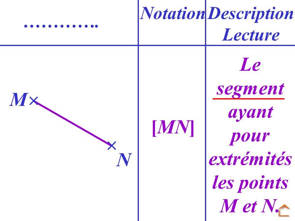 Le segment ayant pour extrémités les points M et N.