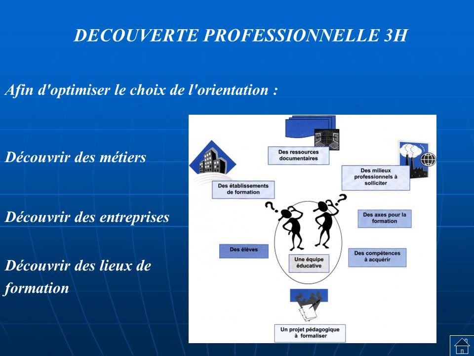 DECOUVERTE PROFESSIONNELLE 3H