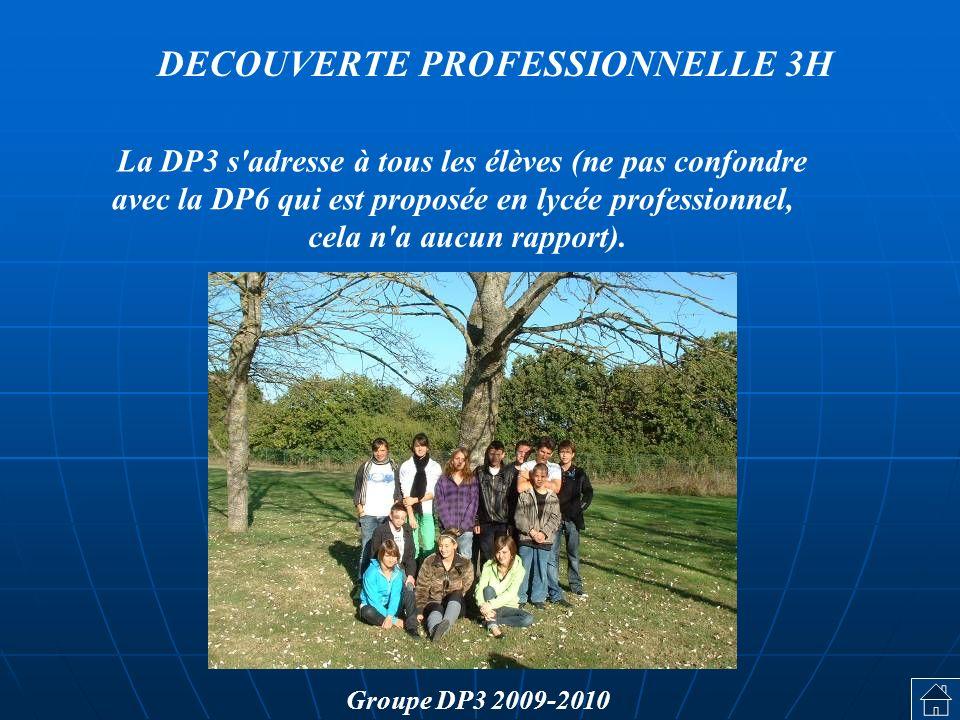 La DP3 s adresse à tous les élèves (ne pas confondre