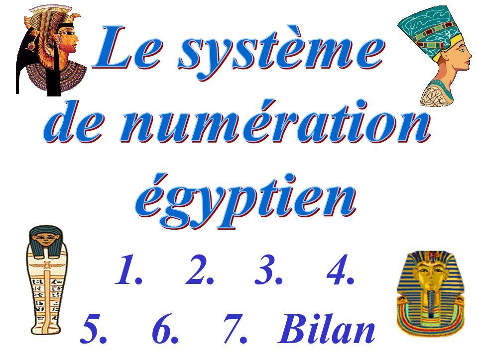 Le système de numération égyptien 1. 2. 3. 4. 5. 6. 7. Bilan