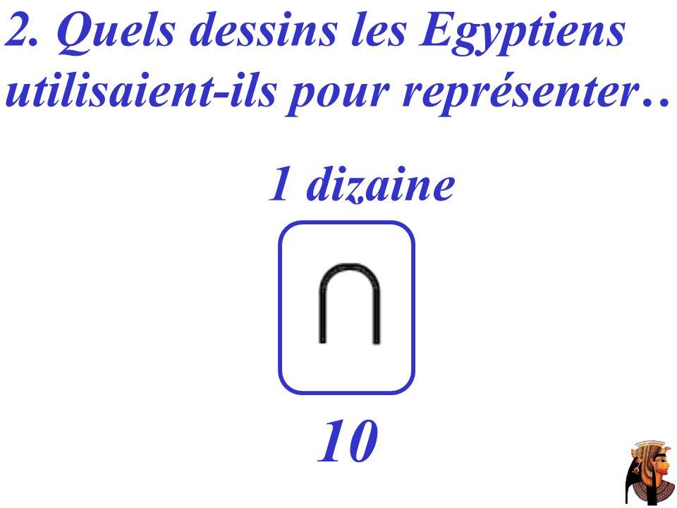 10 2. Quels dessins les Egyptiens utilisaient-ils pour représenter…