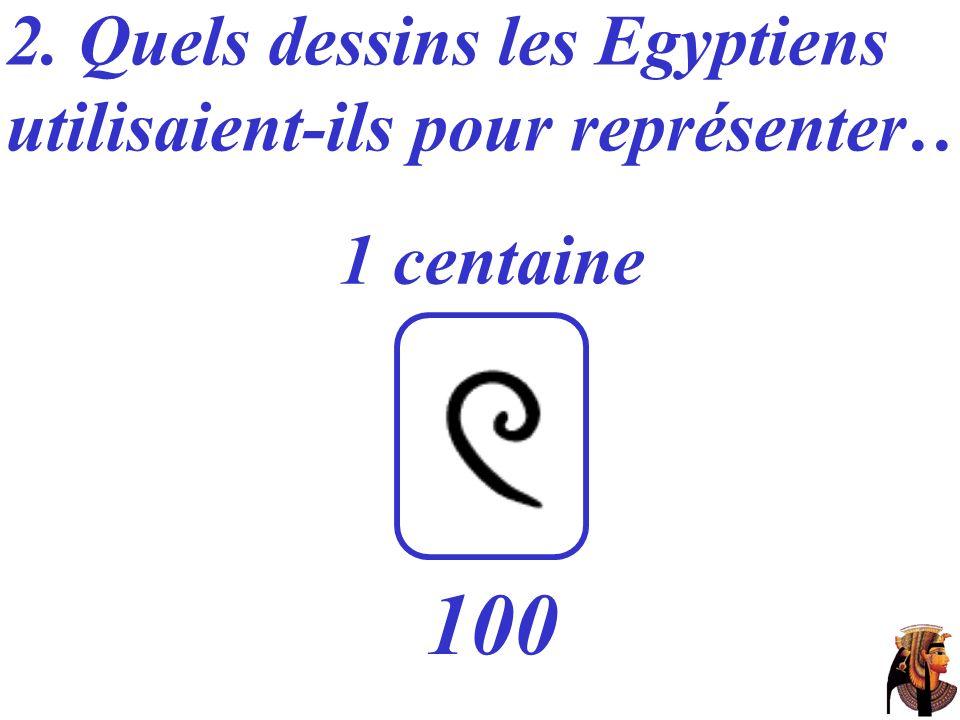 100 2. Quels dessins les Egyptiens utilisaient-ils pour représenter…