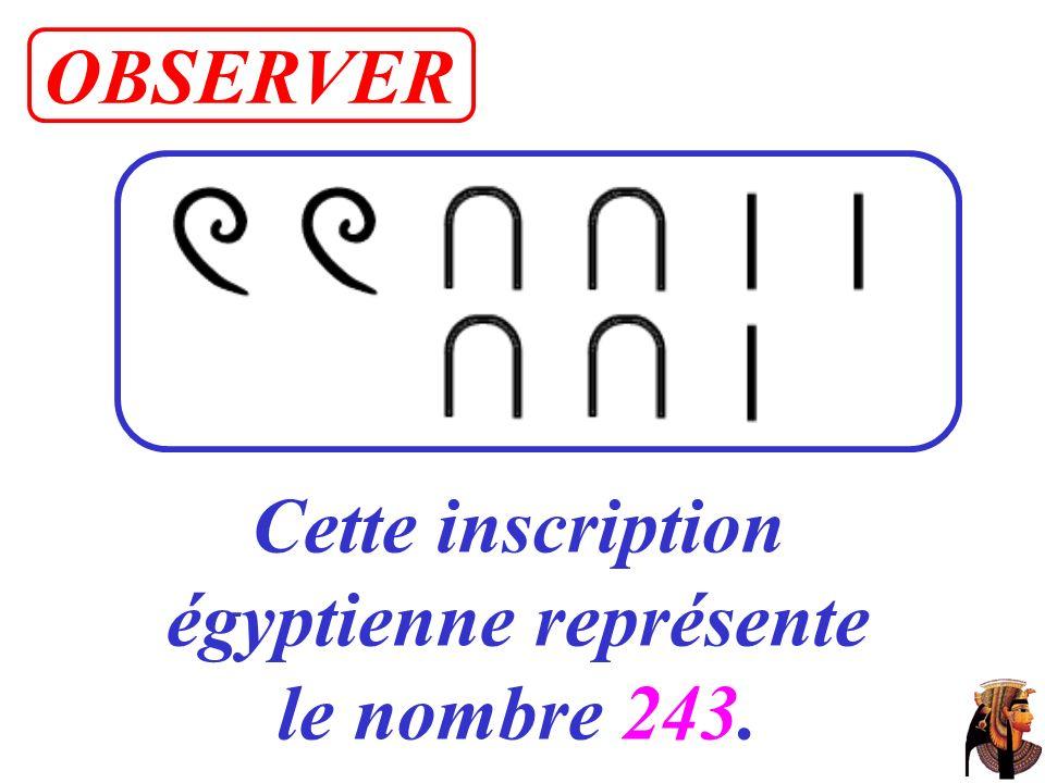 Cette inscription égyptienne représente