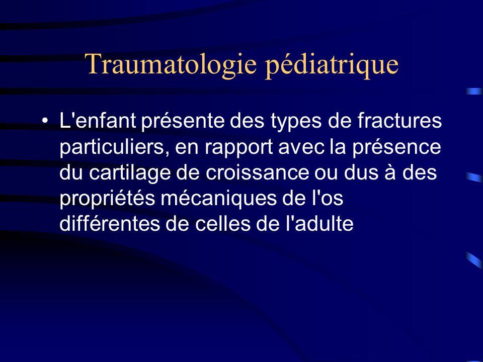 Traumatologie pédiatrique