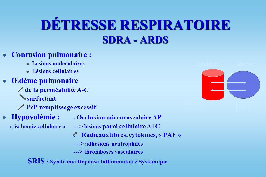 DÉTRESSE RESPIRATOIRE SDRA - ARDS