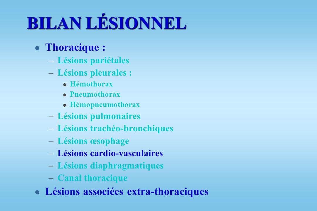 BILAN LÉSIONNEL Thoracique : Lésions associées extra-thoraciques