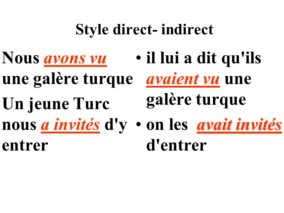 Style direct- indirect
