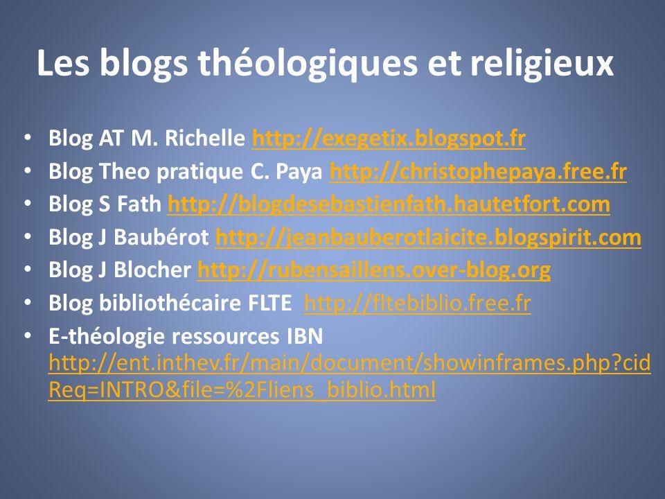 Les blogs théologiques et religieux