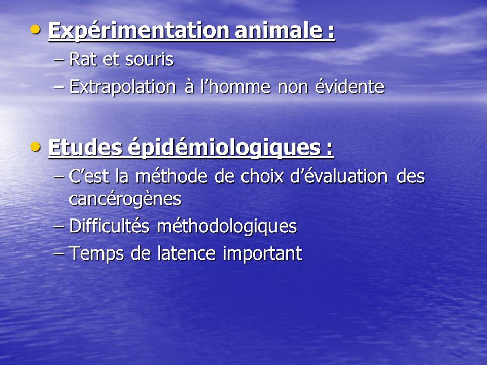Expérimentation animale :