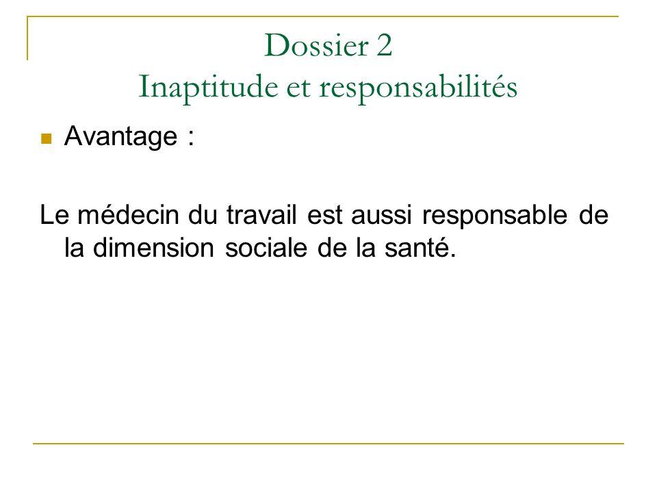 Dossier 2 Inaptitude et responsabilités