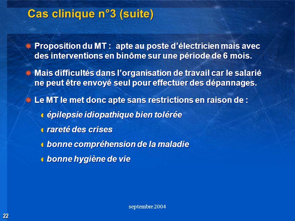 Cas clinique n°3 (suite)