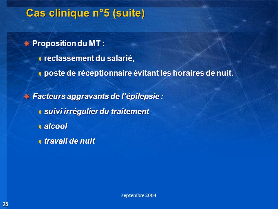 Cas clinique n°5 (suite)