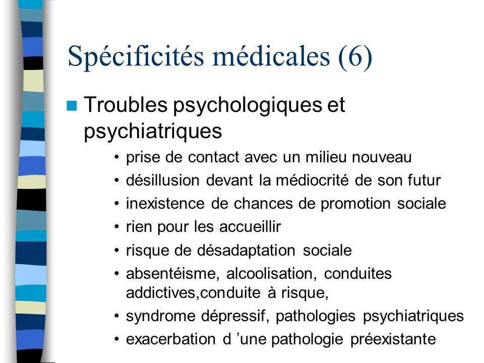 Spécificités médicales (6)