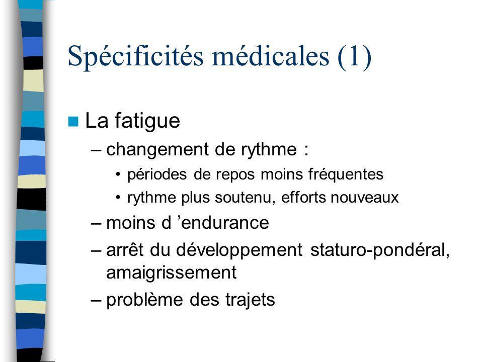 Spécificités médicales (1)