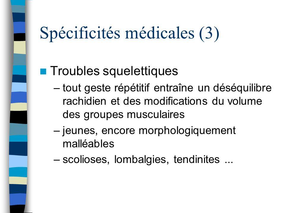 Spécificités médicales (3)