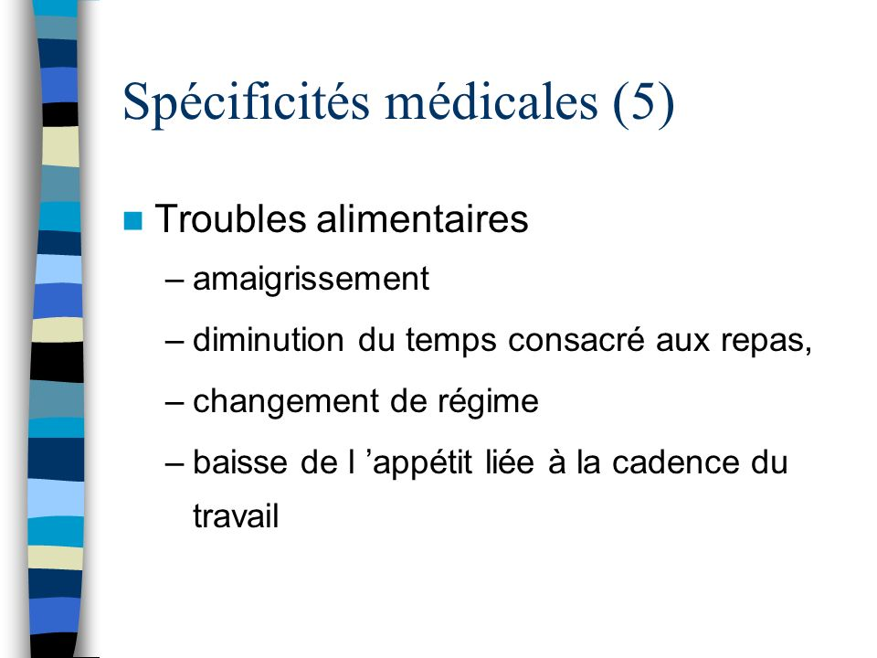 Spécificités médicales (5)