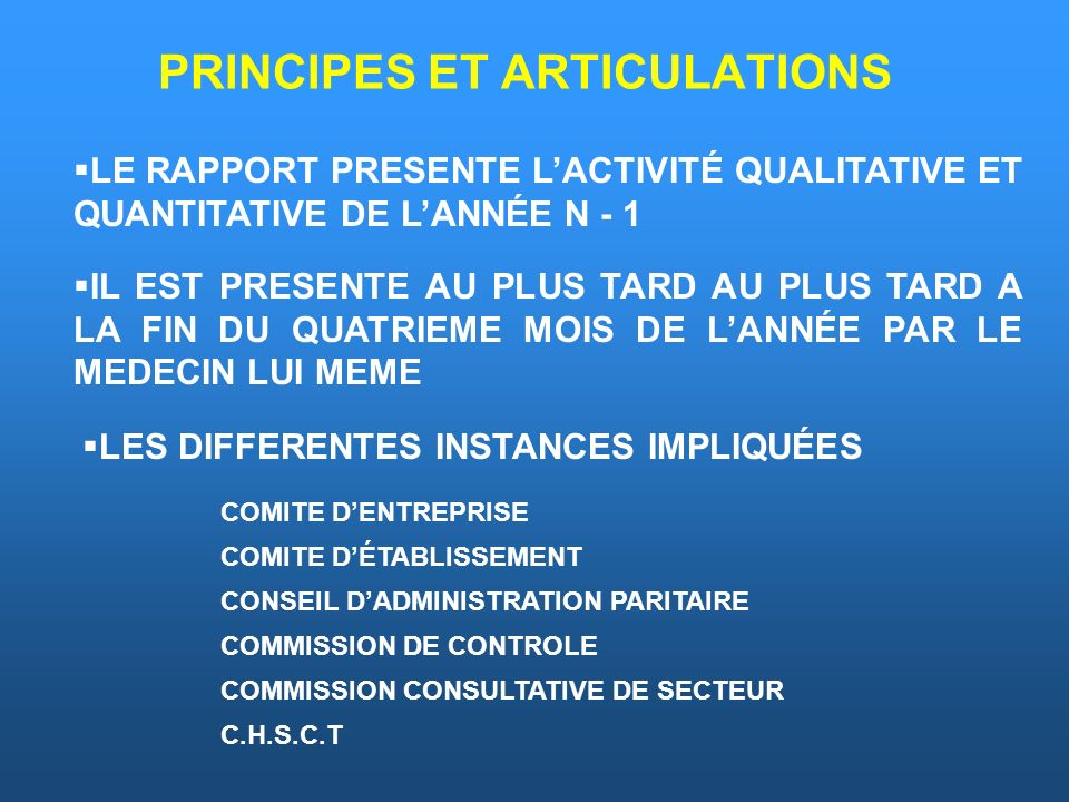 PRINCIPES ET ARTICULATIONS