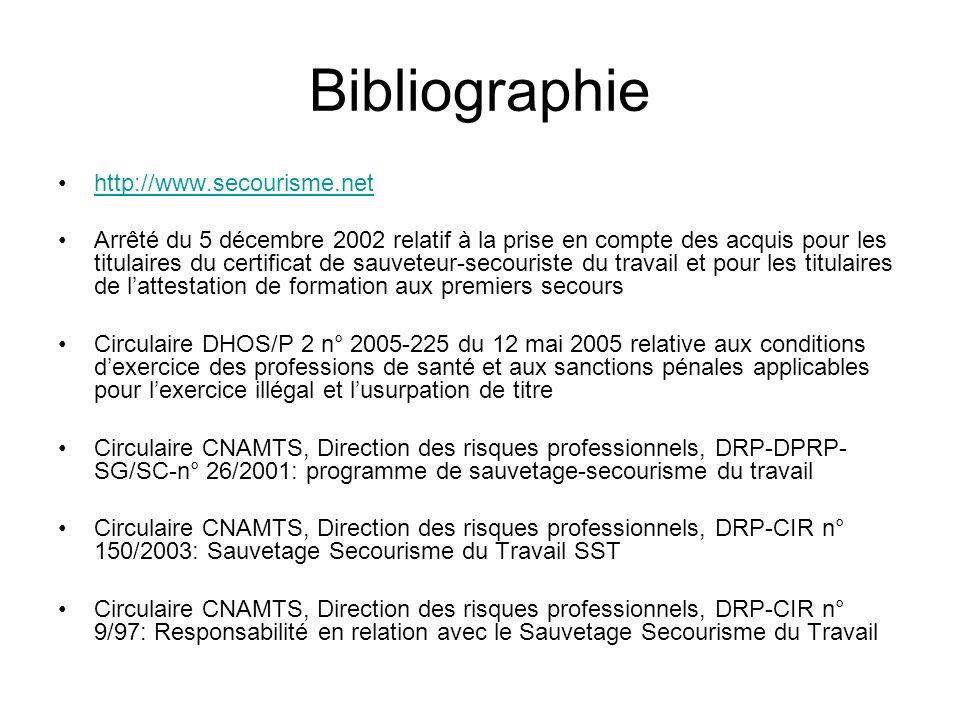 Bibliographie http://www.secourisme.net