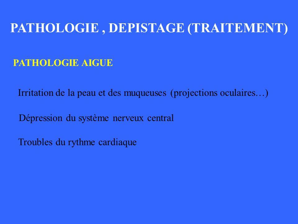 PATHOLOGIE , DEPISTAGE, TRAITEMENT_1