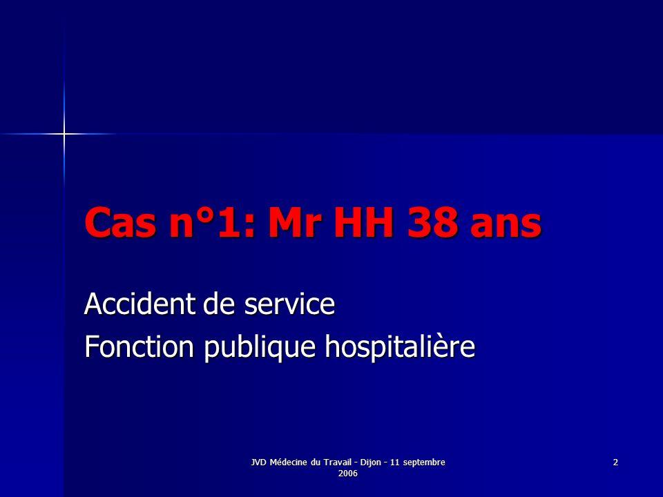 Accident de service Fonction publique hospitalière