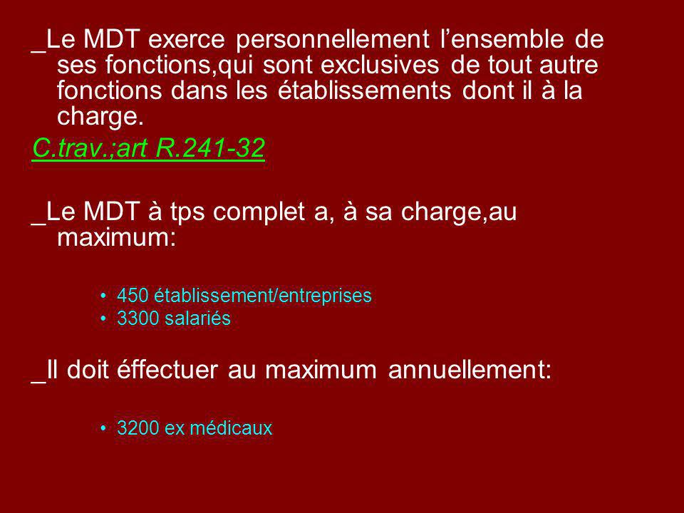 _Le MDT à tps complet a, à sa charge,au maximum: