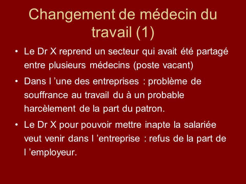 Changement de médecin du travail (1)