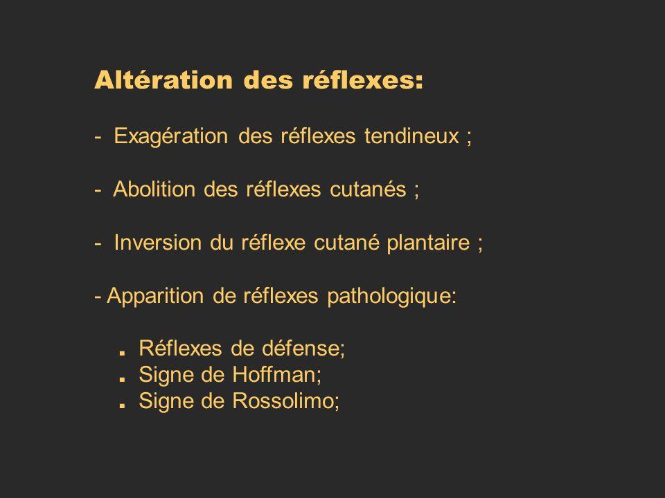 Altération des réflexes: