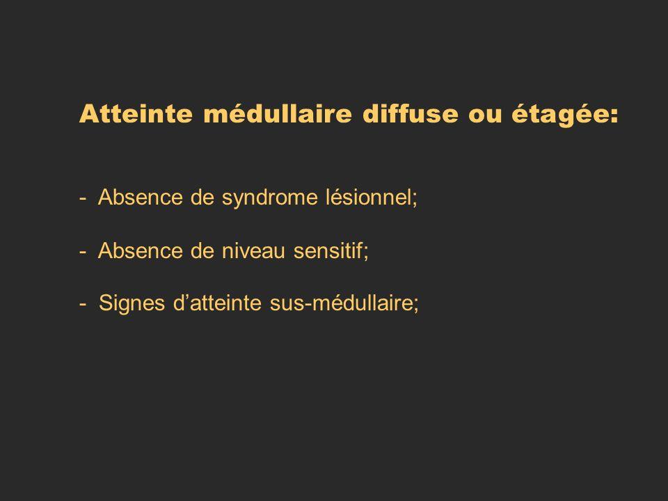 Atteinte médullaire diffuse ou étagée:
