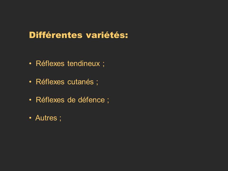 Différentes variétés: