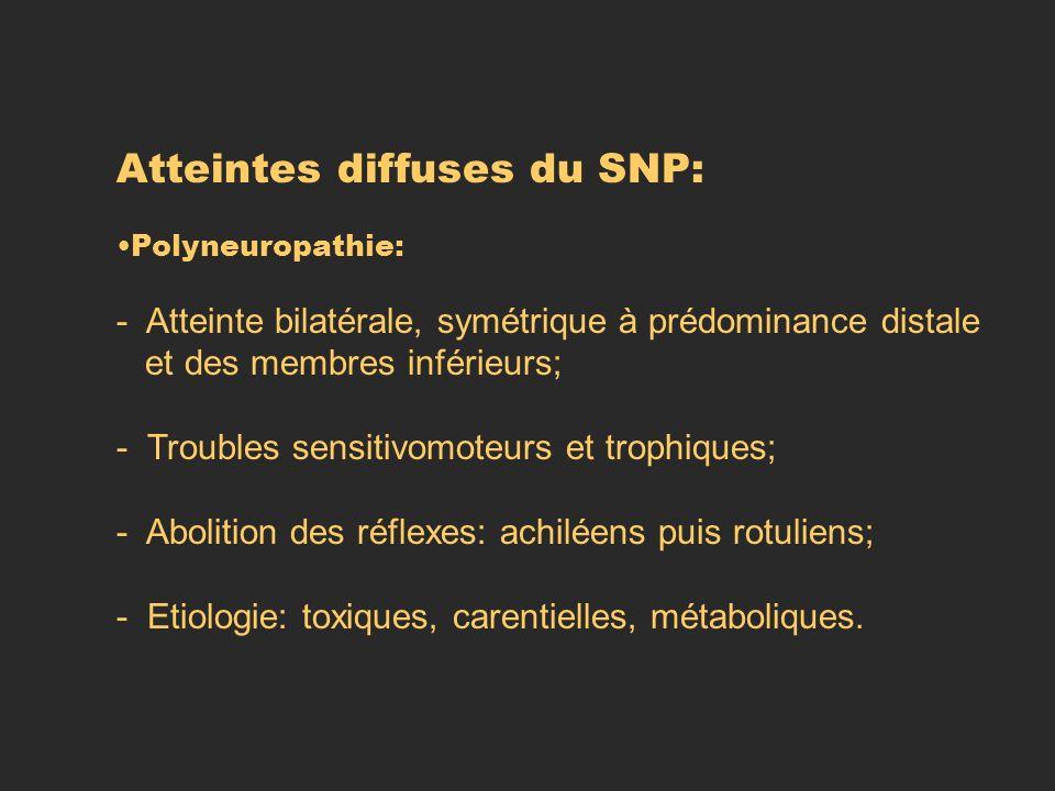 Atteintes diffuses du SNP: