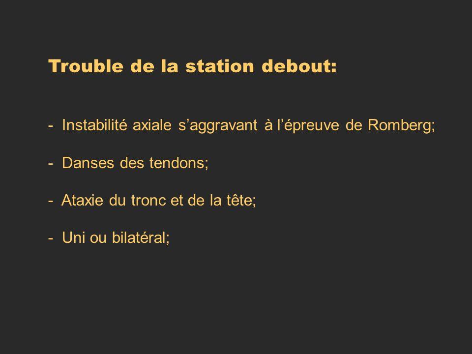 Trouble de la station debout: