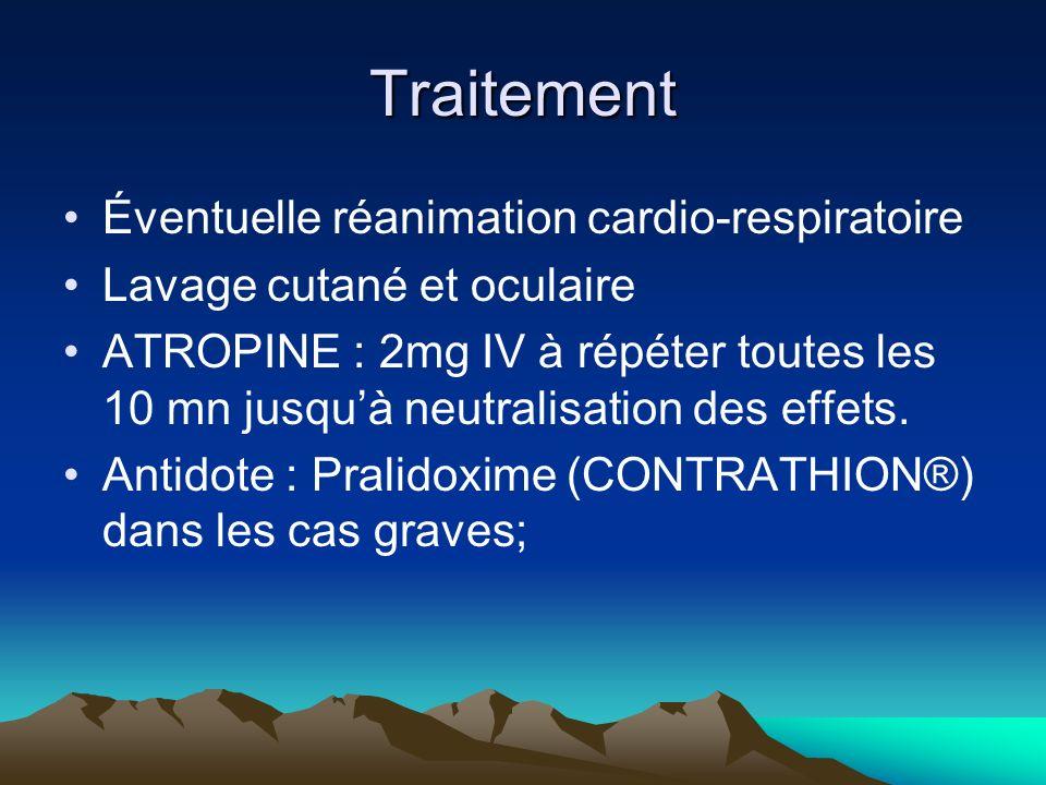 Traitement Éventuelle réanimation cardio-respiratoire