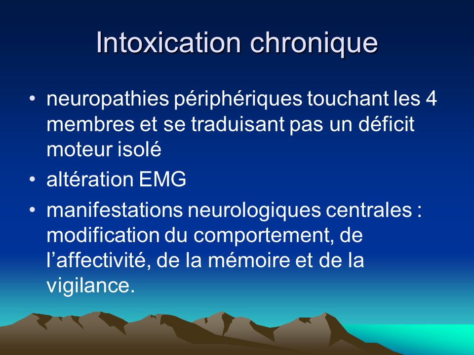 Intoxication chronique