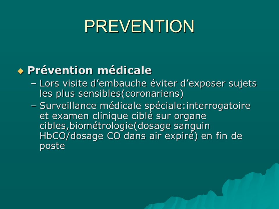 PREVENTION Prévention médicale