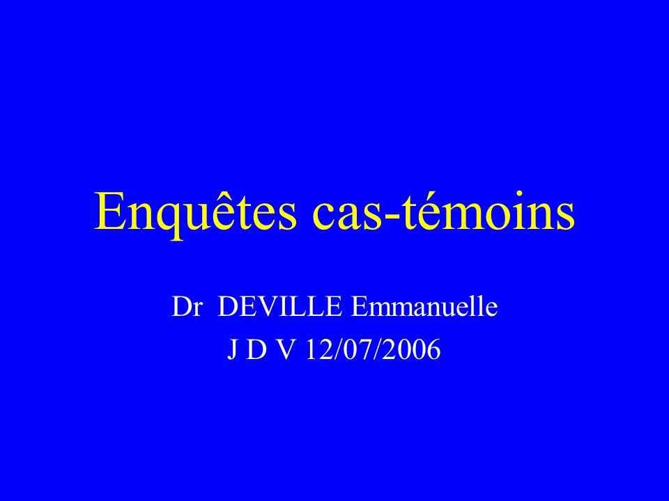 Dr DEVILLE Emmanuelle J D V 12/07/2006