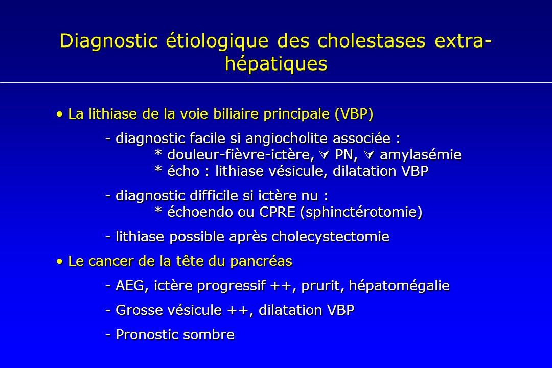 Diagnostic étiologique des cholestases extra-hépatiques