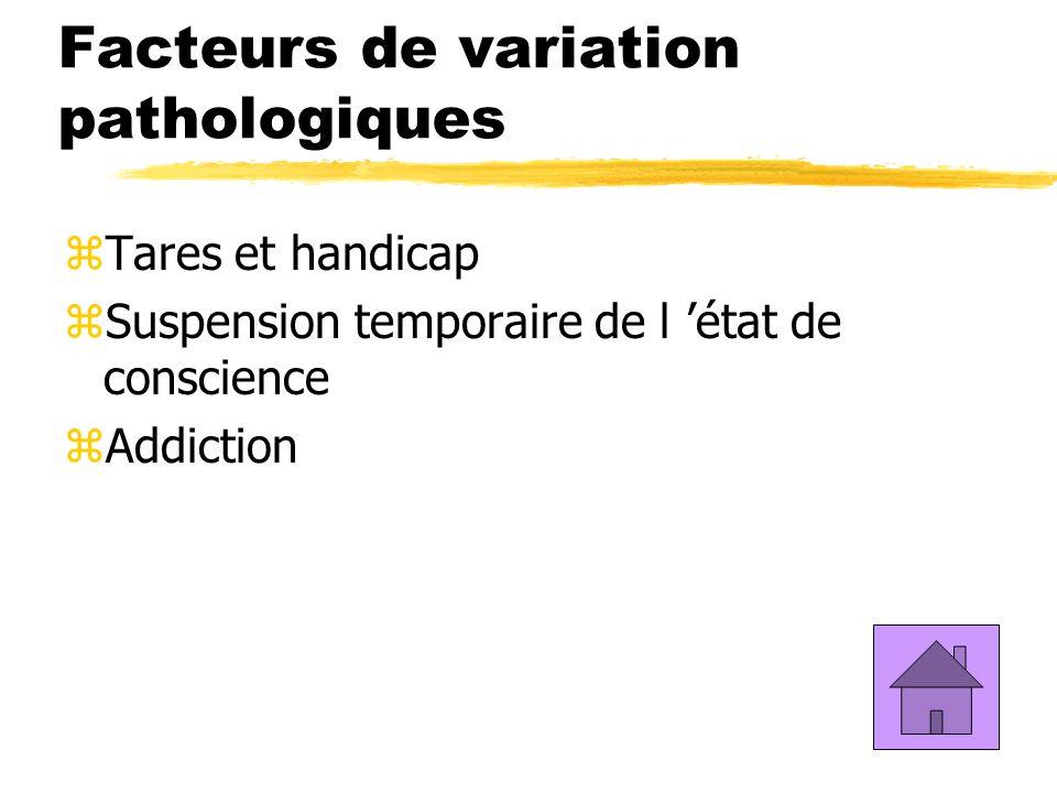 Facteurs de variation pathologiques