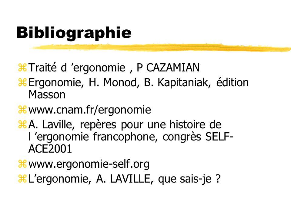 Bibliographie Traité d 'ergonomie , P CAZAMIAN