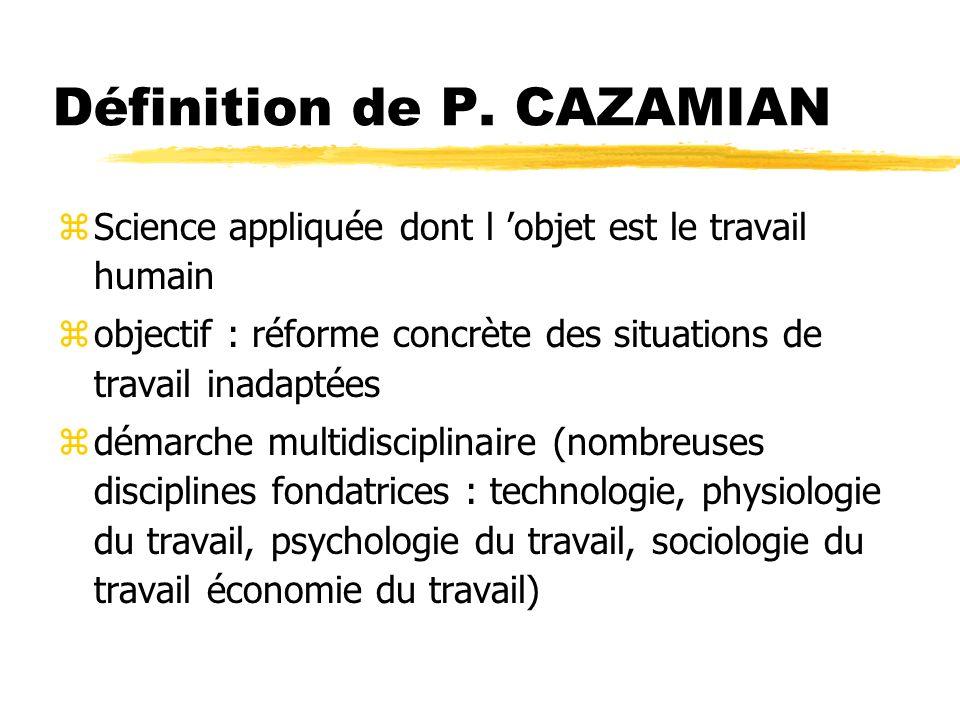 Définition de P. CAZAMIAN