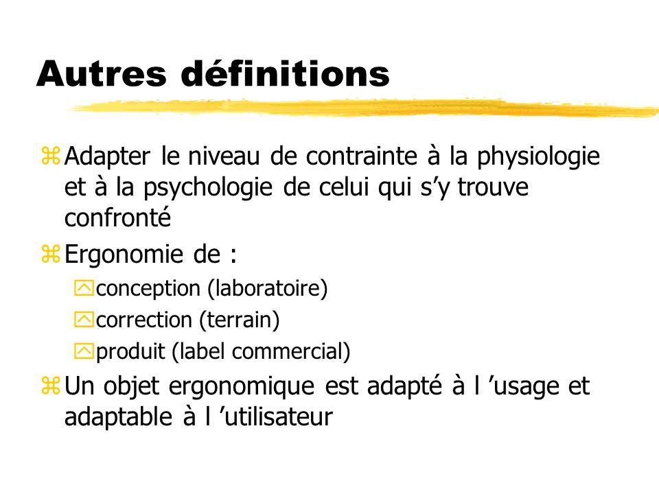 Autres définitions Adapter le niveau de contrainte à la physiologie et à la psychologie de celui qui s'y trouve confronté.