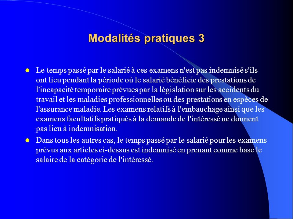 Modalités pratiques 3