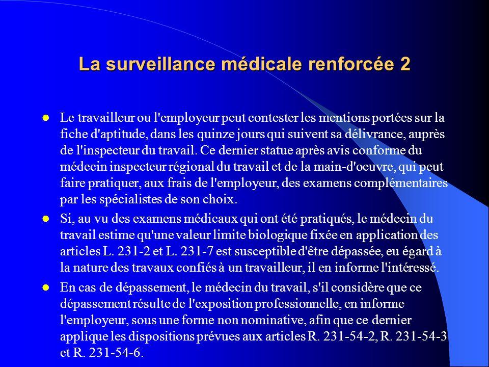 La surveillance médicale renforcée 2