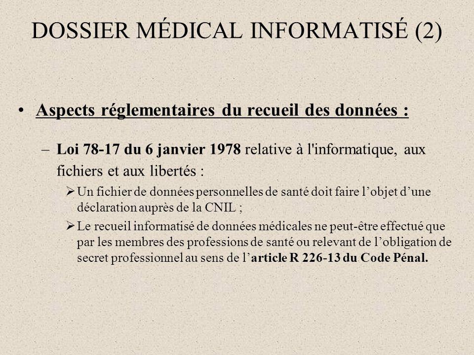 DOSSIER MÉDICAL INFORMATISÉ (2)