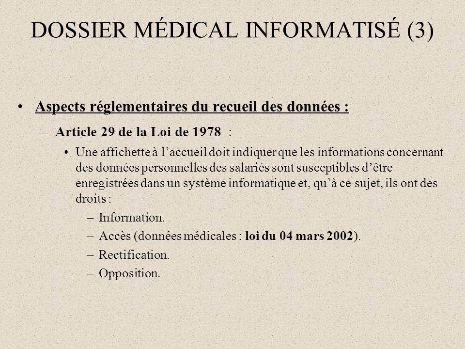 DOSSIER MÉDICAL INFORMATISÉ (3)