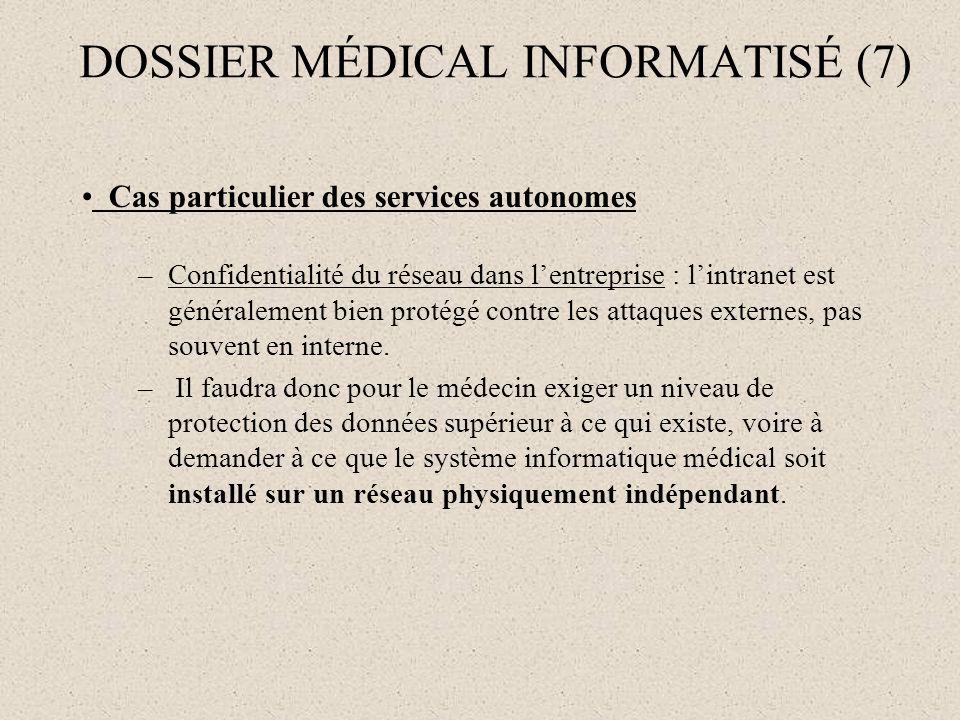 DOSSIER MÉDICAL INFORMATISÉ (7)