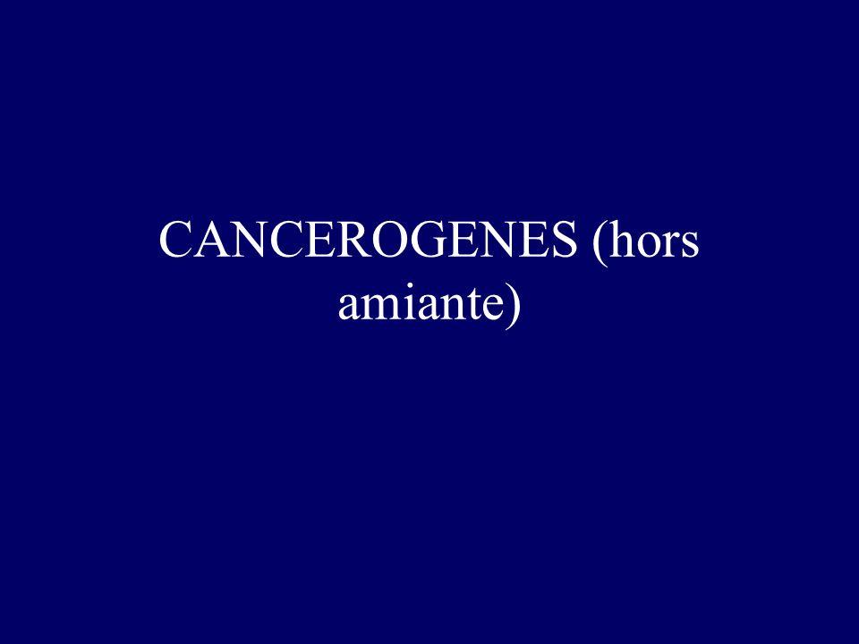 CANCEROGENES (hors amiante)