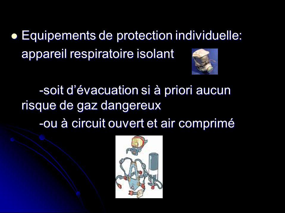 Equipements de protection individuelle: