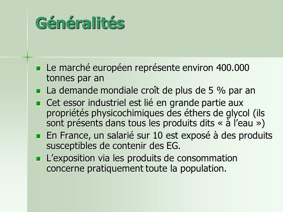 Généralités Le marché européen représente environ 400.000 tonnes par an. La demande mondiale croît de plus de 5 % par an.