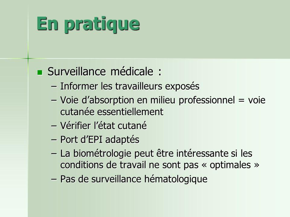 En pratique Surveillance médicale : Informer les travailleurs exposés